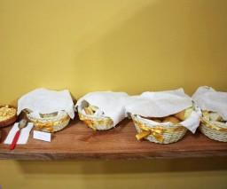 Bread options for breakfast at La Gargola guesthouse in Old Havana, Cuba