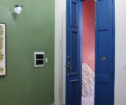 The vestibule area of La Gargola Guesthouse in Old Havana, Cuba
