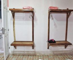 Storage space in the Red Room in La Gargola guesthouse in Old Havana, Cuba