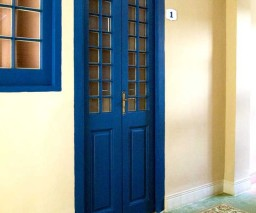The door to the Orange Room - La Gargola guesthouse - Old Havana, Cuba