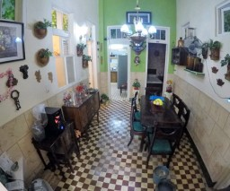 The dining room of Casa La Caridad guesthouse in Old Havana