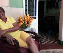 The friendly owner of Hostal La Caridad in Old Havana
