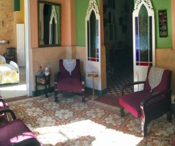 The lounge room of La Caridad guesthouse in Havana