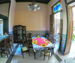 The dining room of Casa Naty in Havana