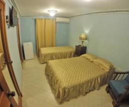 What Cubans call a triple room in Havana.