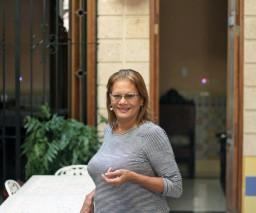 Naty,the owner of Casa Nativity in Vedado, Havana, Cuba