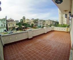 terrace balcony in Havana, Cuba