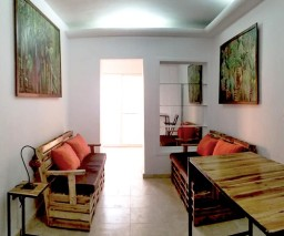 The lobby area of Malecon Sunset private guesthouse in Havana, Cuba