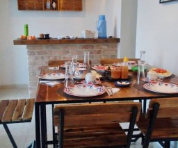 A breakfast setting in casa particular Habana Cuba